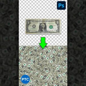 $1 Into a Pile of Money in Photoshop! #Shorts