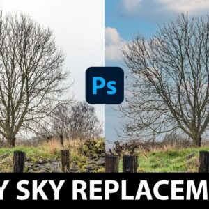 EASY Sky Replacements in Photoshop! NEW A.I. Tech