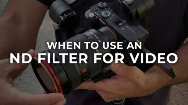 When to Use an ND Filter for Video #Shorts